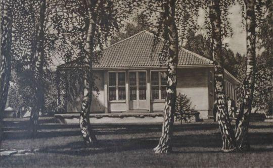 'Wohnhaus an der oberen Dorfaue' 92x148 cm David Gledhill